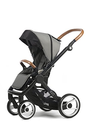 Mutsy Evo Urban Nomad Stroller, Black Chassis, Light Grey