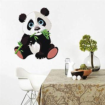 Cute dibujos animados Panda y bambú vinilo pegatinas de pared ...