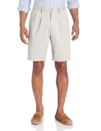 Dockers Men's Classic-Fit Big and Tall Double Pleat Short, Porcelain Khaki, 50W