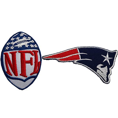 Hipatch New England Patriots Embroidered Patch Iron on Logo Vest Jacket Cap Hoodie Backpack Patch Iron On/sew on Patch Set of 2Pcs