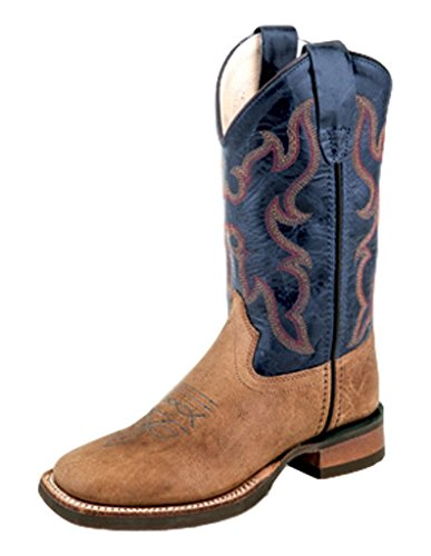 Old West Kids Boots Unisex Broad Square Toe (Toddler/Little Kid) Tan Fry 2 Boot