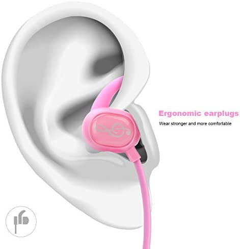 Kids Headphones, Pink Headphones Bluetooth Wireless Headphones with Magnetic Earbuds for Kids Girls Stereo Sound with Mic Noise Reduction Wireless Bluetooth Headset for School Travel (Pink)