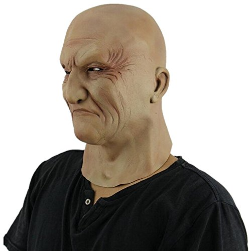 Dead Terrorist Halloween Costume - Latex Mask Old Male Disguise Parties Halloween