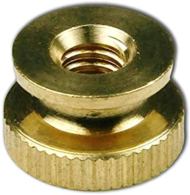 Super-Deals-Shop Solid Brass Knurled Thumb Nuts Lock Nuts for Wheels Super S Round and Round Super Deal Pack Knurled Thumb Knurled Nuts Thumb Nut Brass 8-32 25 Pcs