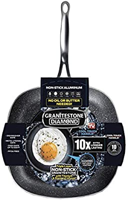 Granitestone Square Non-stick, No-warp, Mineral-enforced Pan PFOA-