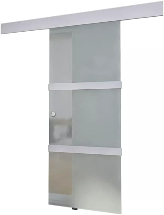 yorten Puerta Corredera de Vidrio para Casa u Oficina Cristal y ...