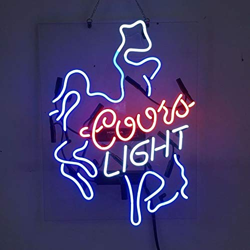 Coors Light Mirror - Coors Light Cowboys Beer Bar Pub Store Party Room Wall Windows Display Neon Signs 19x15