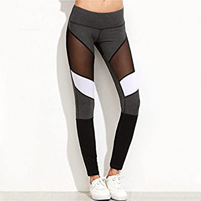 Casual Leggings Women Fitness Leggings Color Workout Pants Mesh Insert Leggings
