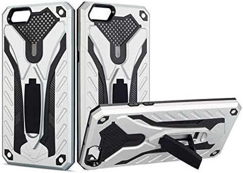 [해외]for Oppo Phone case Protection Stand Shockproof Cover for Oppo A83 / for Oppo Phone case Protection Stand Shockproof Cover for Oppo A83 (Silver)
