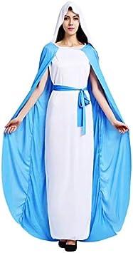 thematys® Disfraz de Virgen María para Mujer Cosplay, Carnaval y ...