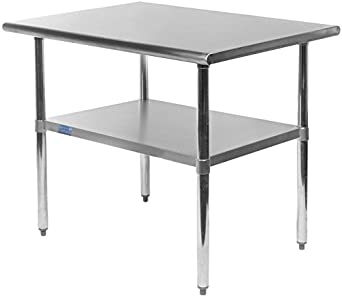 Amazoncom Work Table Food Prep Worktable Restaurant Supply - Stainless steel table 18 x 24