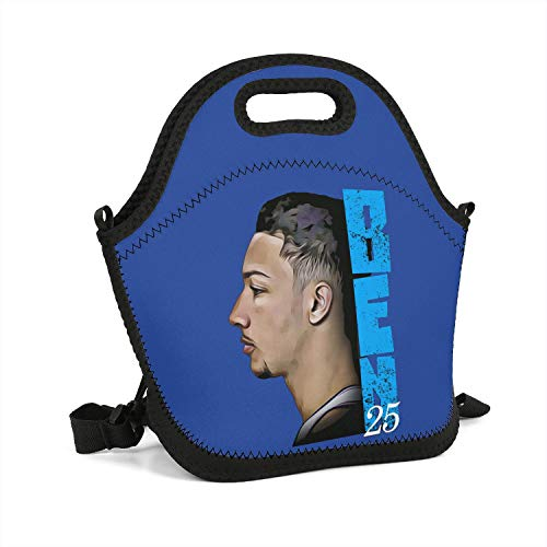 Special Basketball Theme Lunch Box Fashionable Tote Container Eco-Friendly Cooler Insulated School Lunch Bag Unique Slim Healthy Perfect ()