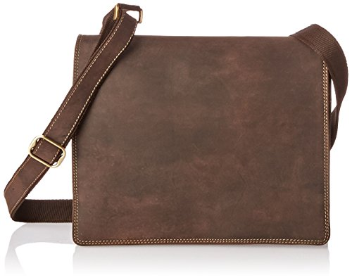 Visconti Harvard Distressed Leather Messenger Bag, Tan, One Size by Visconti