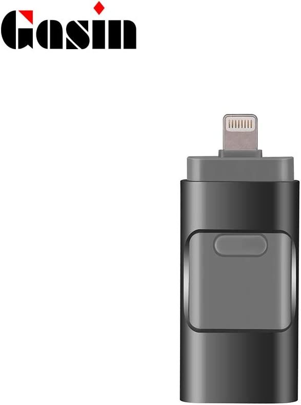 Gasin Flash Drive 128GB Photo Memory Stick External Storage USB Compatible for iPhone//PC//iPad//Android 128G, Rose Gold