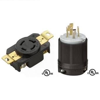 OCSParts L14-20PR NEMA L14-20 Plug and Receptacle Set ...
