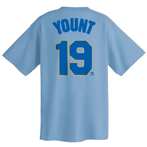 Robin Yount Milwaukee Brewers Cooperstown Name and Number T-Shirt (Small)