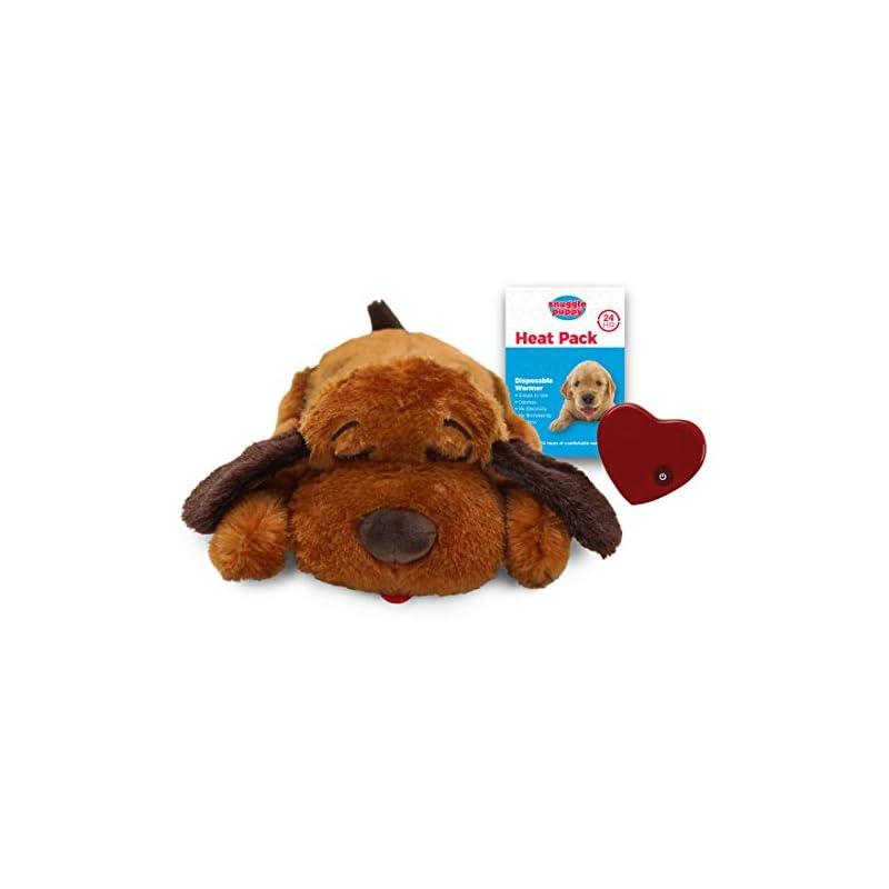 dog supplies online smartpetlove snuggle puppy behavioral aid toy, brown mutt