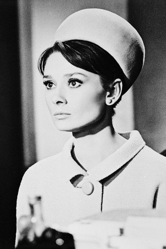 Audrey Hepburn Charade Coat & Hat 11x17 Mini ()