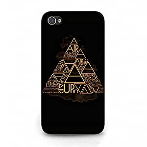 Cover Shell Stylish Creative Golden Design Alternative Rock Band 30 Seconds To Mars Phone Case Cover for Iphone 4 4s 30STM Special Style