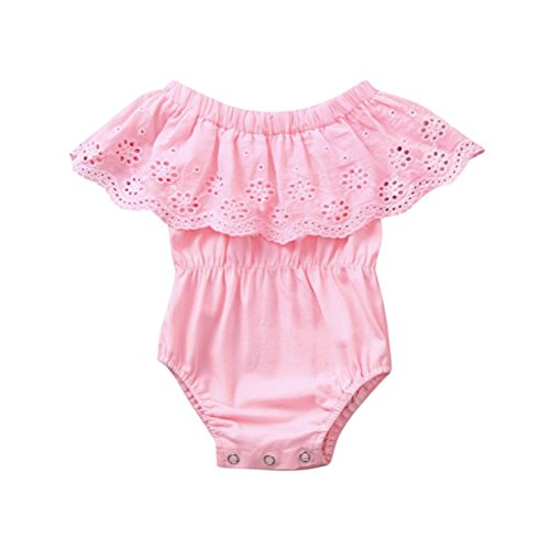 (SMALLE◕‿◕ Clearance,Cute Newborn Kids Baby Lace Girls Outfits Clothes Romper Jumpsuit)