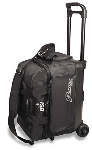 BSI Prestige Series Double Ball Roller Bag (Black/Silver -