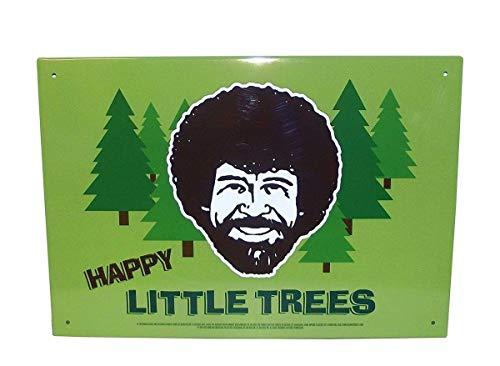 AQUARIUS Bob Ross Happy Little Trees 8X11.5 Tin Sign