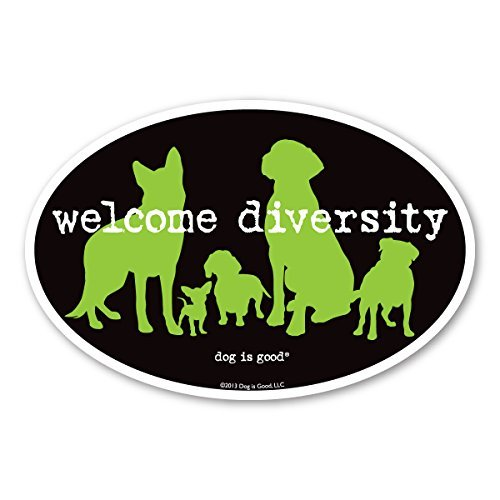 Welcome Diversity Oval Magnet- Dog Is (Diversity Magnet)