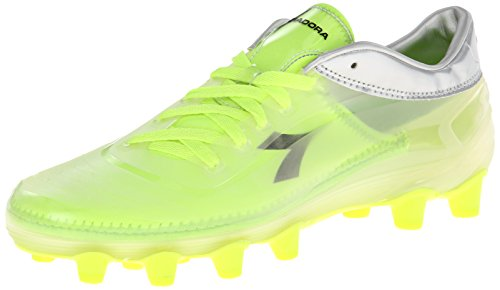 Diadora Soccer Men's Cambio MD PU Soccer Cleat,Clear/Fluorescent Yellow,10 M US