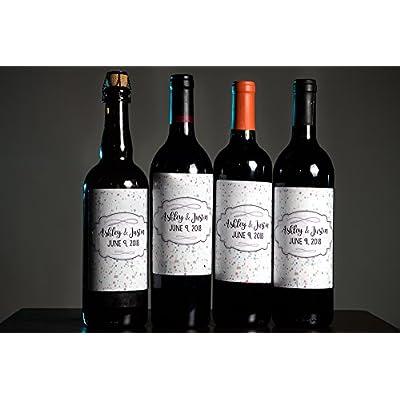 12 Rose Floral Design Wine / Beer Bottle Labels Easy to Use Self Stick Labels: Toys & Games