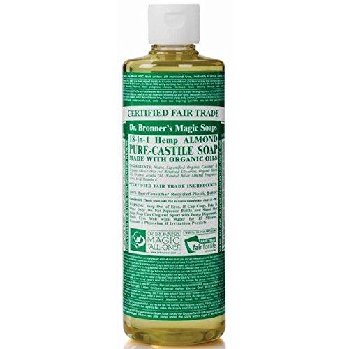 身元廃棄するヶ月目のブロナー有機アーモンドカスティーリャ液体石鹸237ミリリットル x2 - Dr Bronner Organic Almond Castile Liquid Soap 237ml (Pack of 2) [並行輸入品]