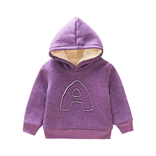 Toddler Kids Baby Boys Hooded Warm Sweatshirts Infant A Letter Long Sleeve Blouse Tops