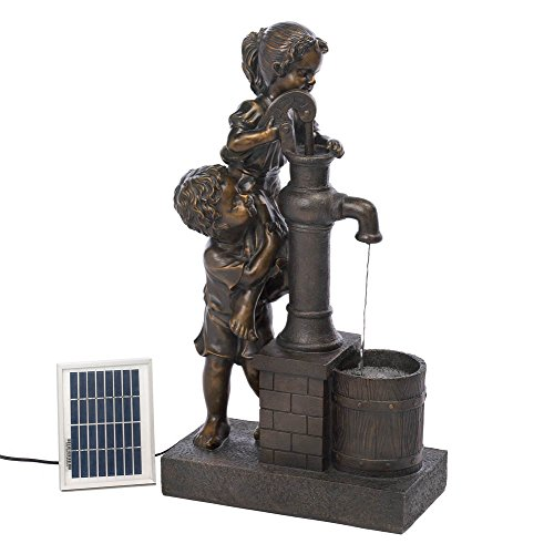 Cheap Kids with Water Pump Solar Garden Fountain