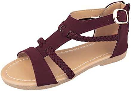 Damen Strass Glitzer Sommer Schuhe Slingback Flach Freizeit Strand Sandaletten