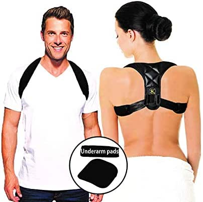 PHYSIOPro Posture Corrector Back Support | Men Women Teens | Ultra-Comfortable, Padded Back Brace for Posture Instantly Realigns, Promoting Fast Relief from Pain, Muscle Spasms, Headaches, Strain