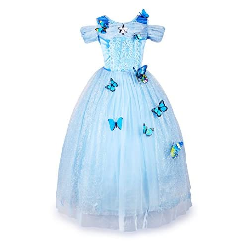 JerrisApparel Flower Girls Dress Princess Costume Butterfly Girl
