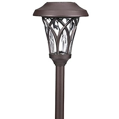 Hampton Bay Bronze Solar LED Fan Cage Pathway Light Set (6-Pack)