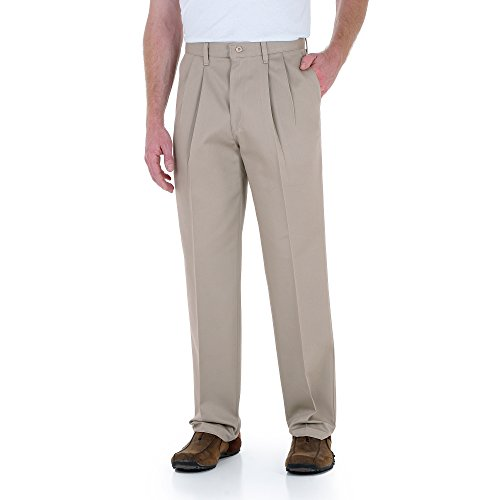 - Wrangler Rugged Wear Men's Relaxed Fit Casual Pant with Teflon Coating,Khaki,54x32