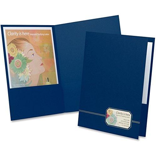 Oxford Monogram Series Business Portfolio, Cover Stock, Blue/Gold, 4/Pack (Portfolio Gold Series)