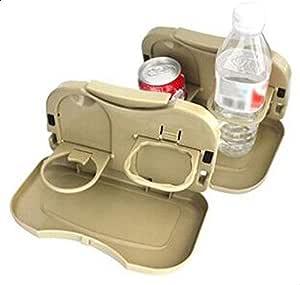 Multi-function folding drink holder car cup holder Beige [A085]