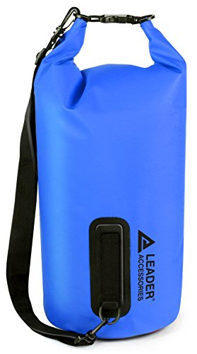 Leader Accessories New 10L Blue Waterproof PVC Dry Bag for Boating Kayaking Fishing Rafting Swimming and Camping