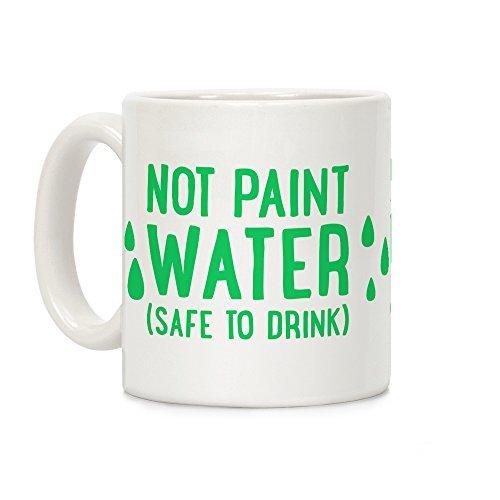 No Pintura Agua (seguro para bebida) color blanco taza divertida ...