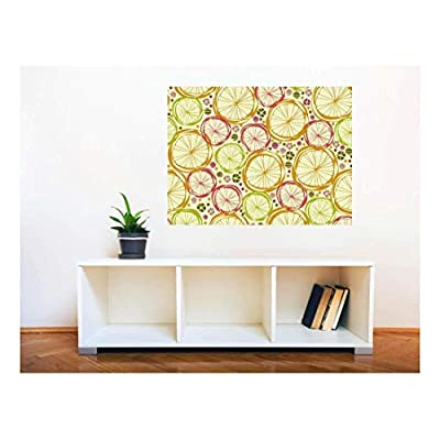 Removable Wall Sticker/Wall Mural - Seamless Floral Pattern | Creative Window View Home Decor/Wall Decor - 24