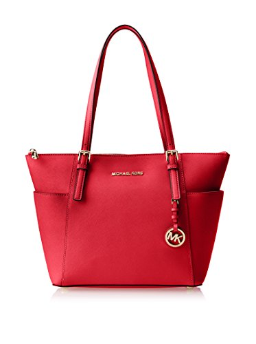 Michael Kors Jet Set Item E/W Top-Zip Tote (Chili)