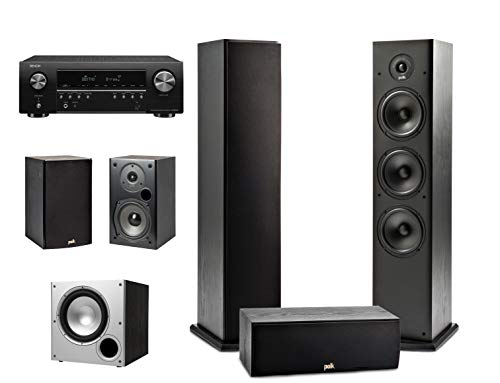 Fantastic Deal! Polk Audio 5.1 Channel Home Theater System with Powered Subwoofer & Denon AVR-S650H ...