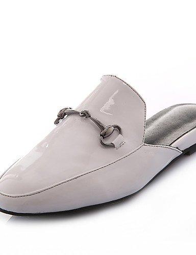 Eu38 Casual oficina Trabajo tacón White White Eu39 Zapatillas Vestido Gyht Mujer Redonda Uk5 Cn39 purpurina us7 Zq Materiales 5 Uk6 Y us8 5 mocasines Cn38 De Zapatos punta Bajo 76qSRvIw