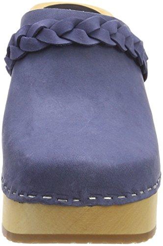 Hasbeens Nubuck Blue Swedish Bleu Sabots Laila Blue Nubuck Femme q11pd
