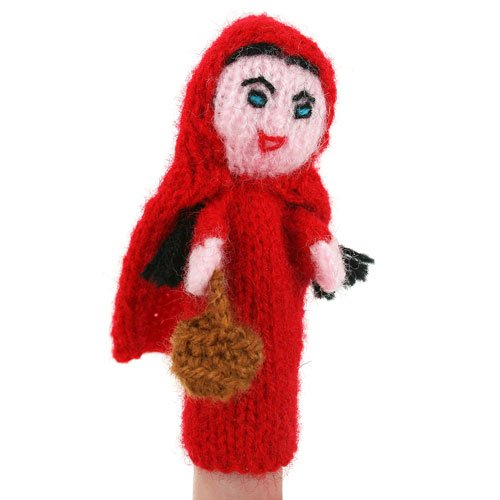 (Buzz Early Years Imaginative Play Little RED Riding Hood Finger Puppet - Hand Knitted Little RED Riding Hood Finger Puppet)