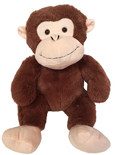Monkey Plush 14 - Wishpets Plush Sitting Monkey, 14 Inches, Brown