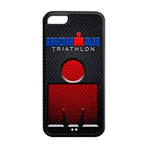 Painted Ironman triathlon TPU Hard back phone Case cover Iphone 5c