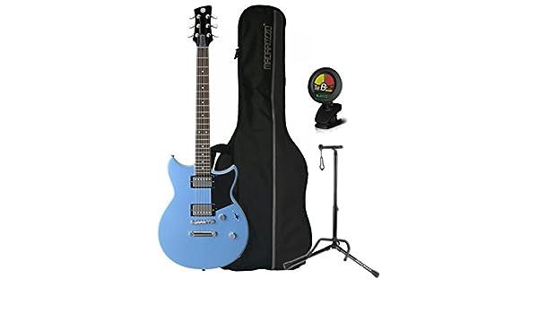 Yamaha rs420 FTB revstar double-cutaway OTAN cuerpo Factory azul guitarra eléctrica w/funda, soporte, y sintonizador: Amazon.es: Instrumentos musicales